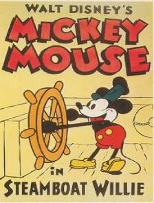 walt diseny mickey mouse in steamboat willie